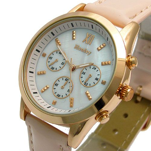Henley Ladies Designer Watch Mother of Pearl Face Rose Gold Finish 353