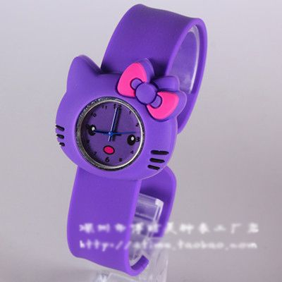 Lovely Hello Kitty Cat Children Cute Cartoon Silicone Jelly Girl Watch