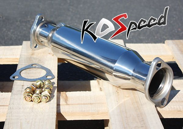 STEEL 2 25 EXHAUST PIPE 88 00 HONDA CIVIC DEL SOL INTEGRA EK EG
