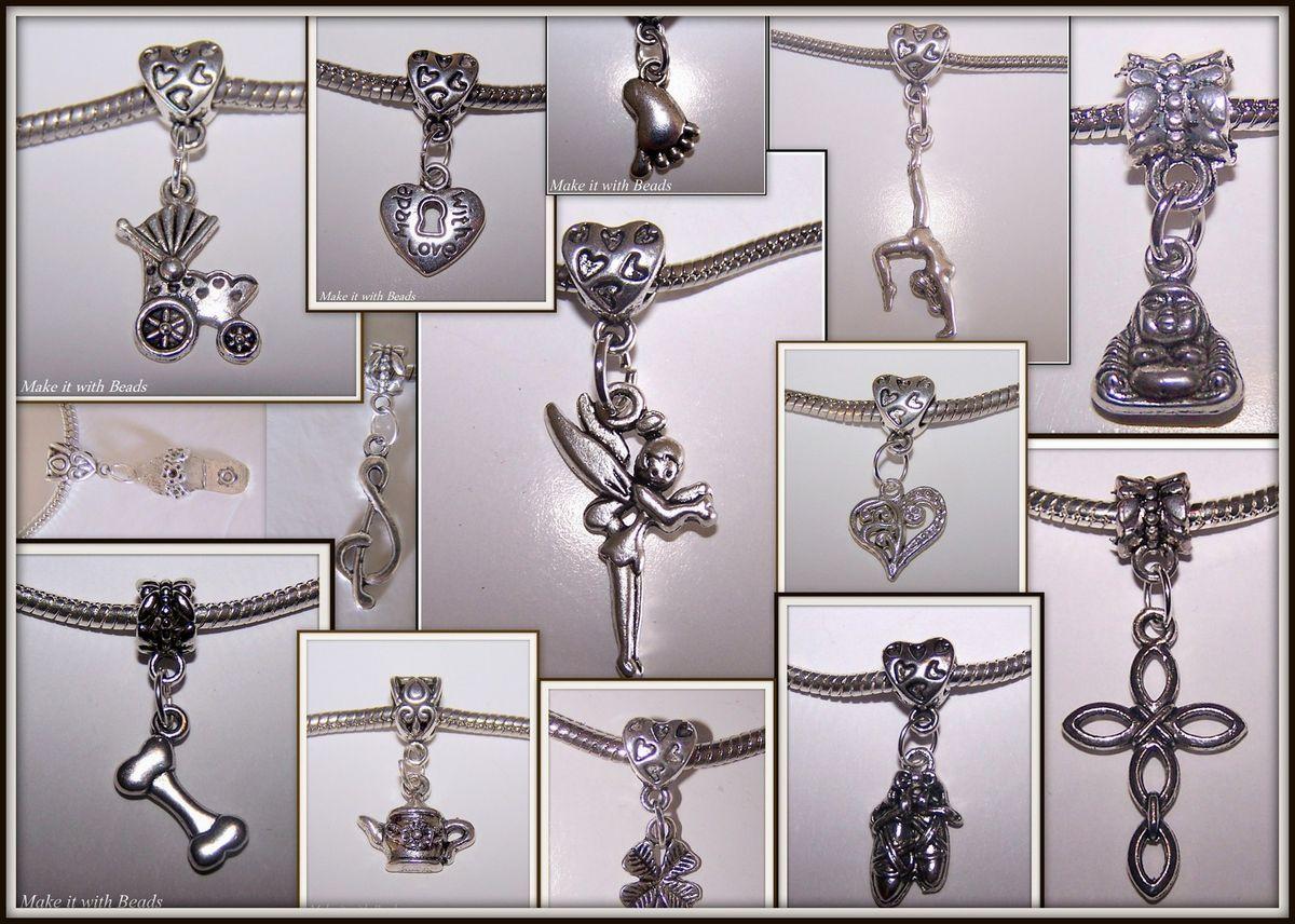 Tibetan Silver Hobbies Interests Dangle Charm Bracelet Beads Music