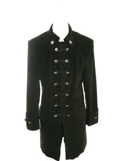 Jimi Hendrix Style Stage Coat Black Velvet Rocker Coat Rock N Roll