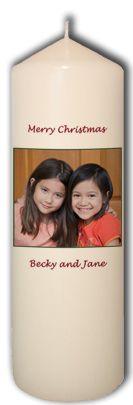 Personalized Custom Christmas Candle Xmas Photo Names