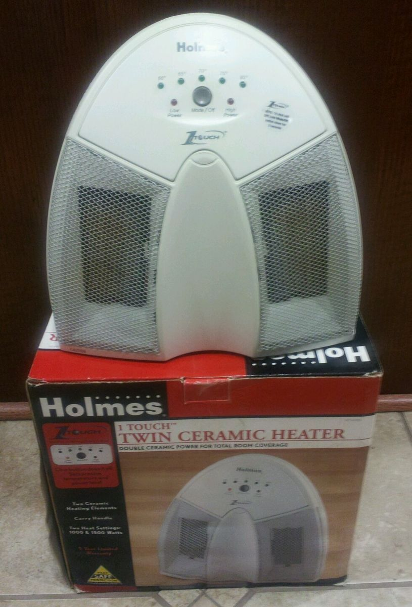 Holmes 1 Touch Twin Ceramic Heater Electric Space Heater