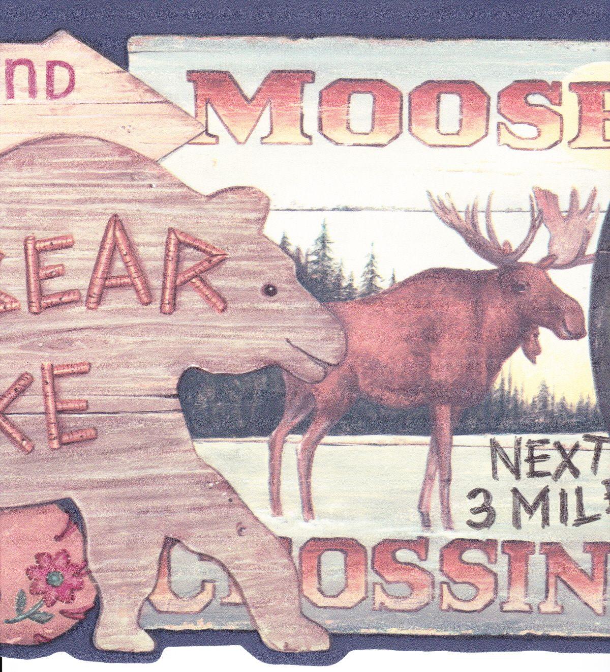 Moose Bear Deer Wallpaper Border Best Hd Wallpaper