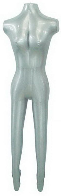 Inflatable Full Body Women 2818 Easy Carry Mannequin Silver Color