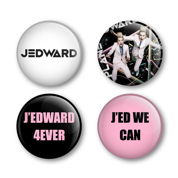 Jedward Badges Buttons Pins Shirts Tickets Albums Music