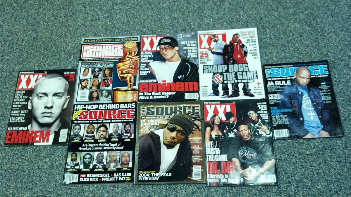 rap hip hop magazines Source XXL Eminem Dr. Dre ODB Snoop Dogg Ja Rule