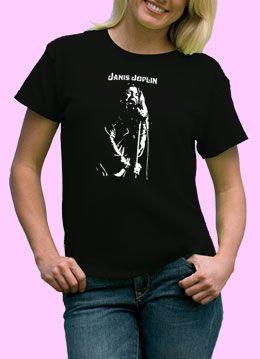 Janis Joplin Women Ladies Shirt Rock Punk Retro s XL Music Pop Soul 60