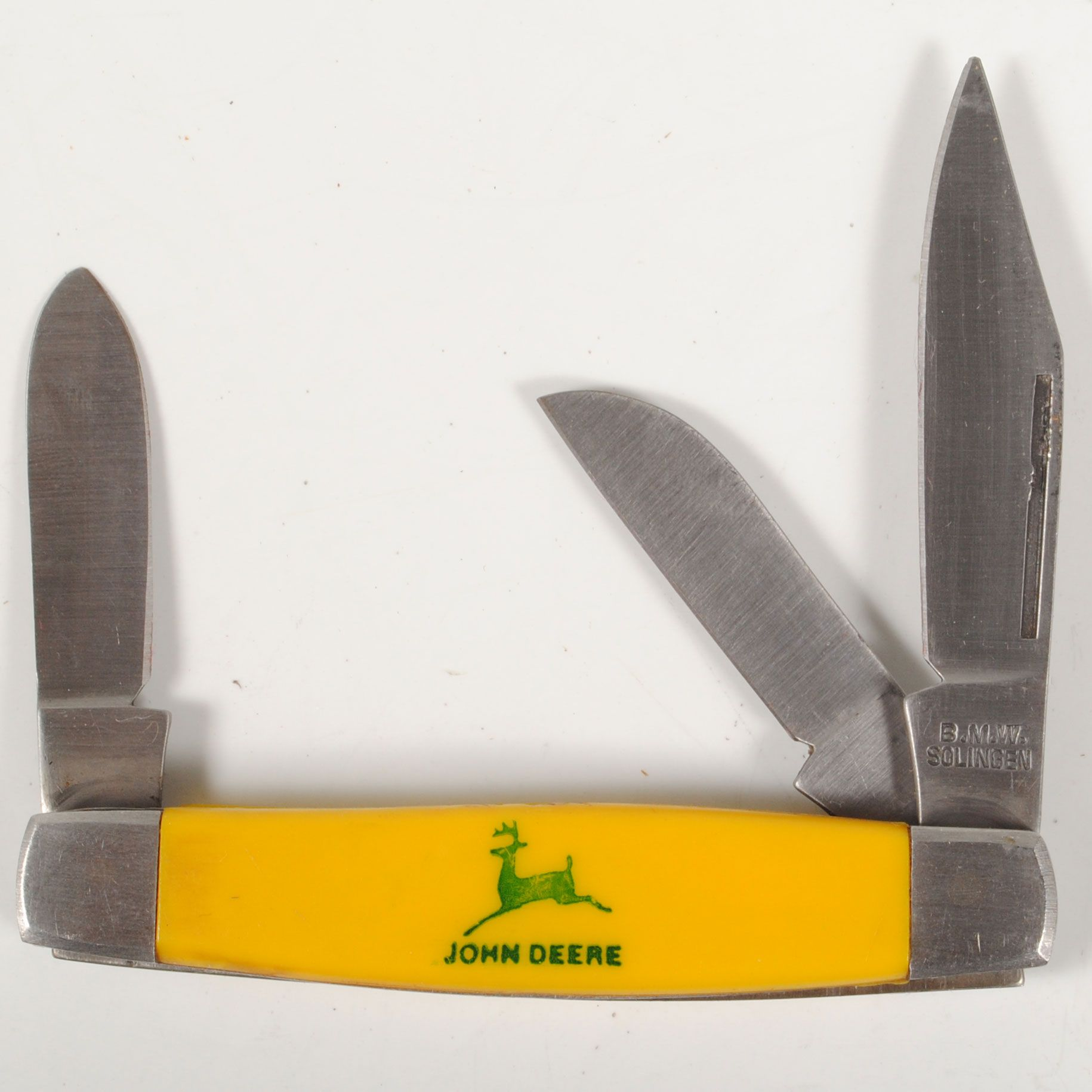 John Deere B M w Solingen 3 Blade Stockman Style Folding Pocket Knife