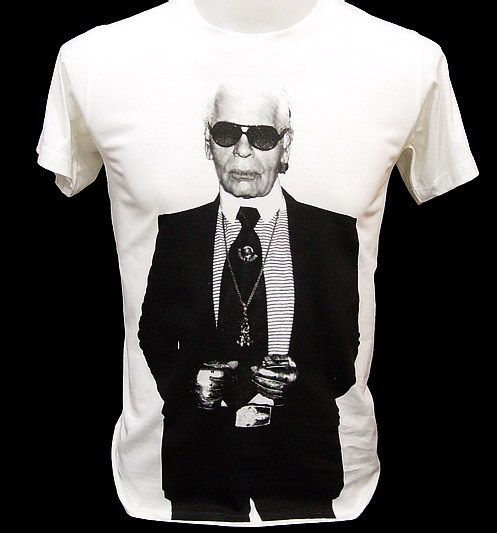 Karl Lagerfeld Fashion Designer Legend Rock T Shirt L