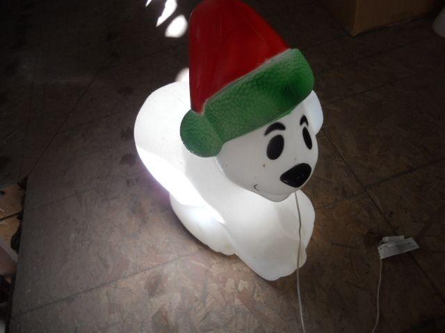 polar bear outdoor lighted blow mold christmas yard decoration 30
