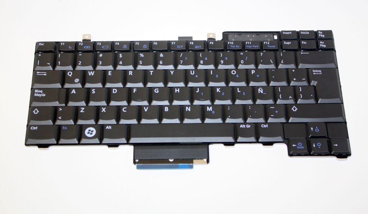 Dell Latitude Spanish Espanol Black Laptop Keyboard T002 CP720