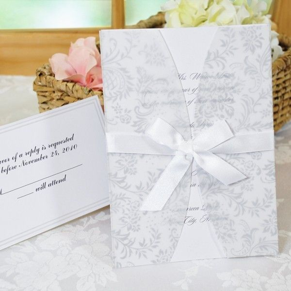 Beautiful White Jacket Laura Ashley Wedding Invitation Kit Diy 50 Pack