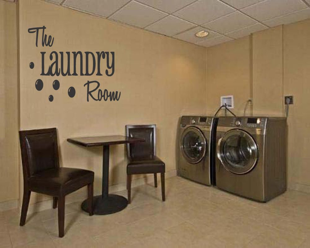 Laundry Room Vinyl Decal Wall Quote Home Decor Lett Wall Sticker Decal
