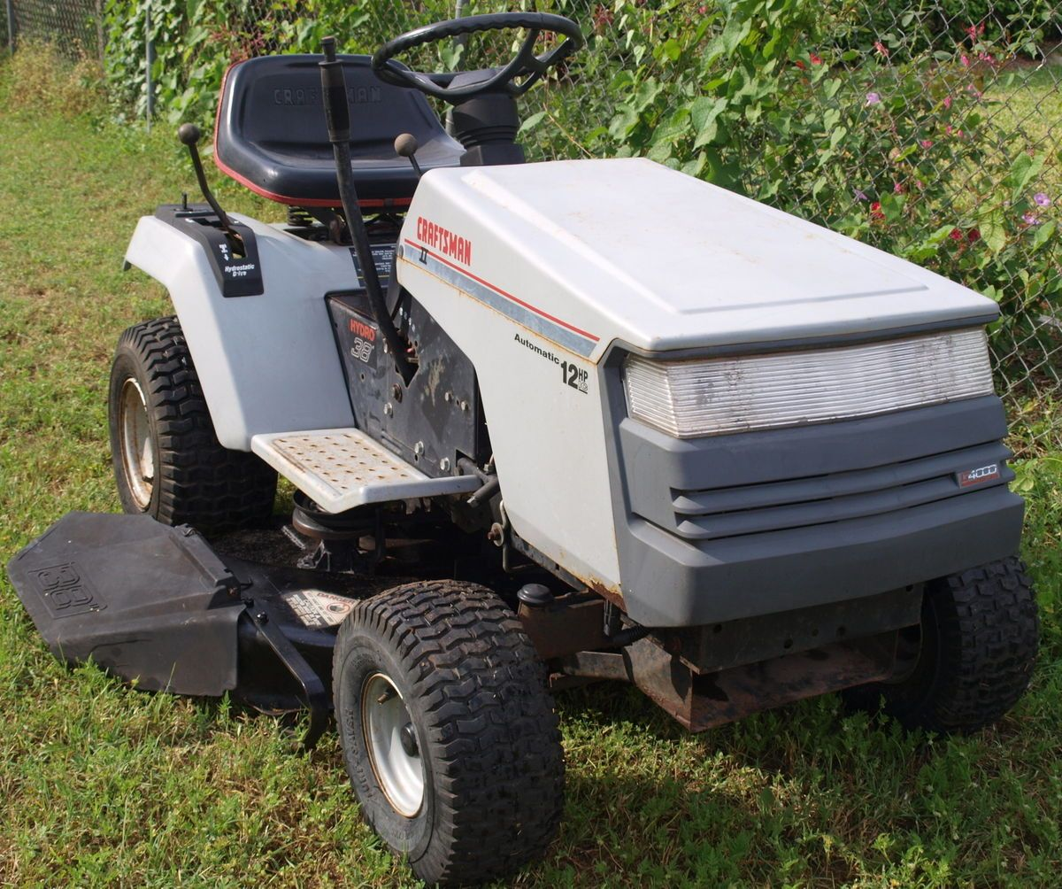 Craftsman Ii 12 Hp Briggs 38 Inch Cut Riding Mower Lawn Tractor Self Propelled