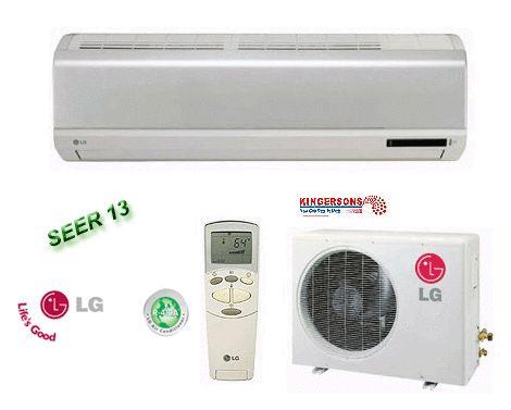 LG Ductless Mini Split Air Conditioner SEER 13 Cool Heat Standard Unit