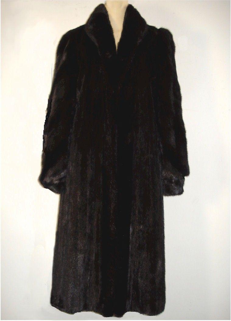 FUR COAT   FULL LENGTH   Sz 14   LISA M GEISER by MAX KARPMAN   Lined