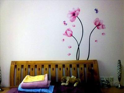 Decal Decor Mural Wall Sticker Peach Flower Tree Pink Art Love