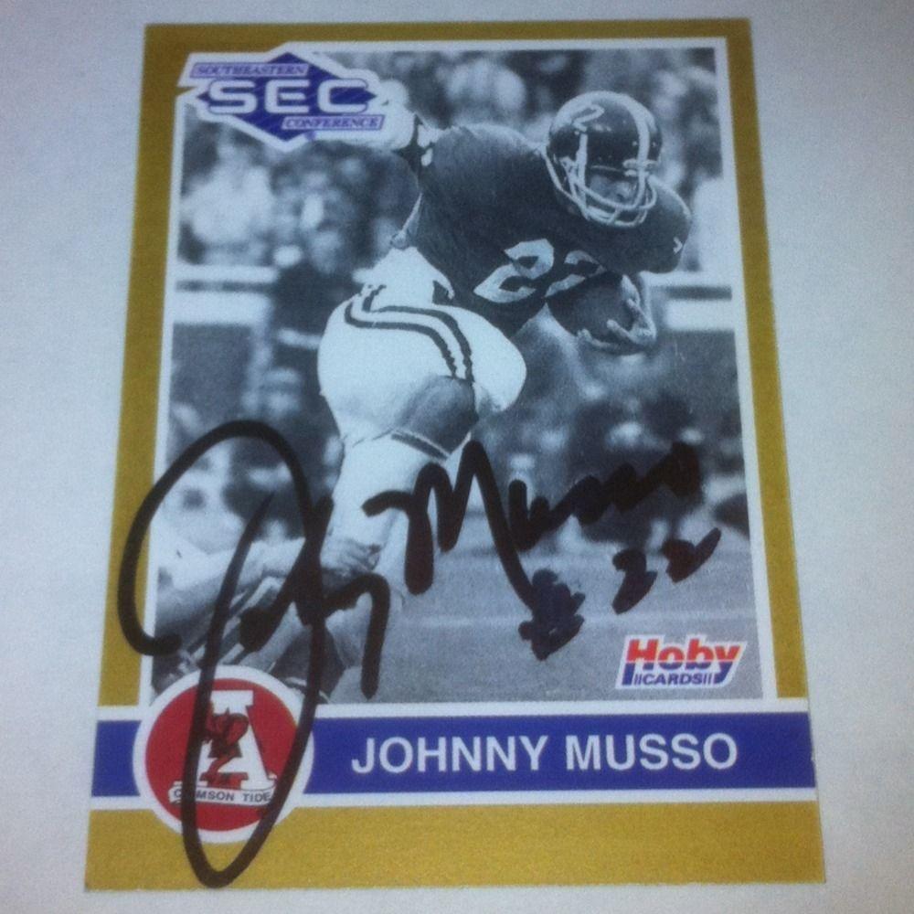 Johnny Musso Alabama Crimson Tide Auto Card Chicago Bears