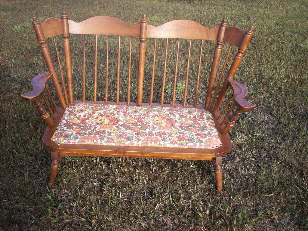 Tell City Chair Company Vintage Maple Love Seat Rocker