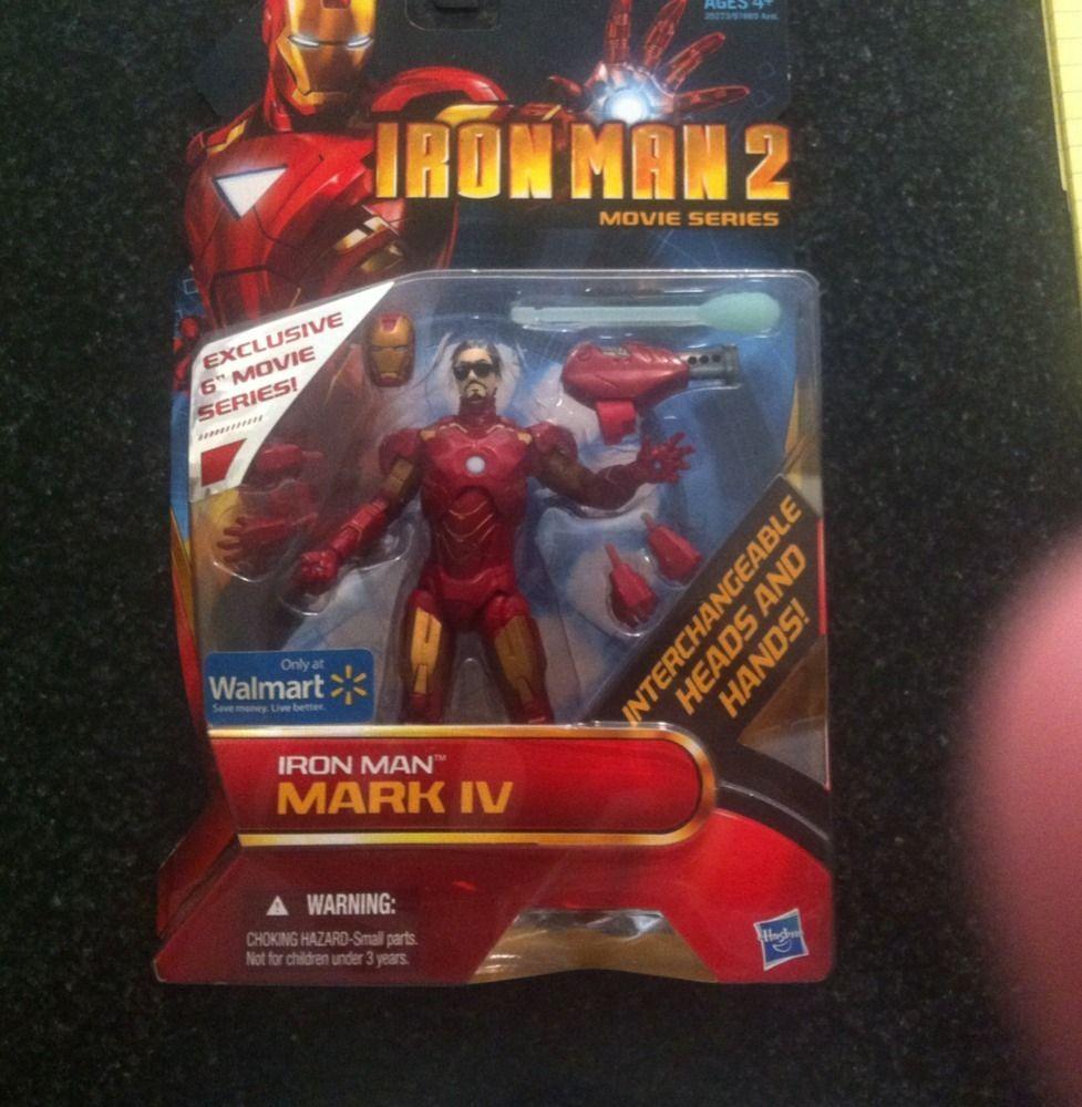 Marvel Legends Iron Man 2 Tony Stark Mark IV RARE Wal Mart Exclusive