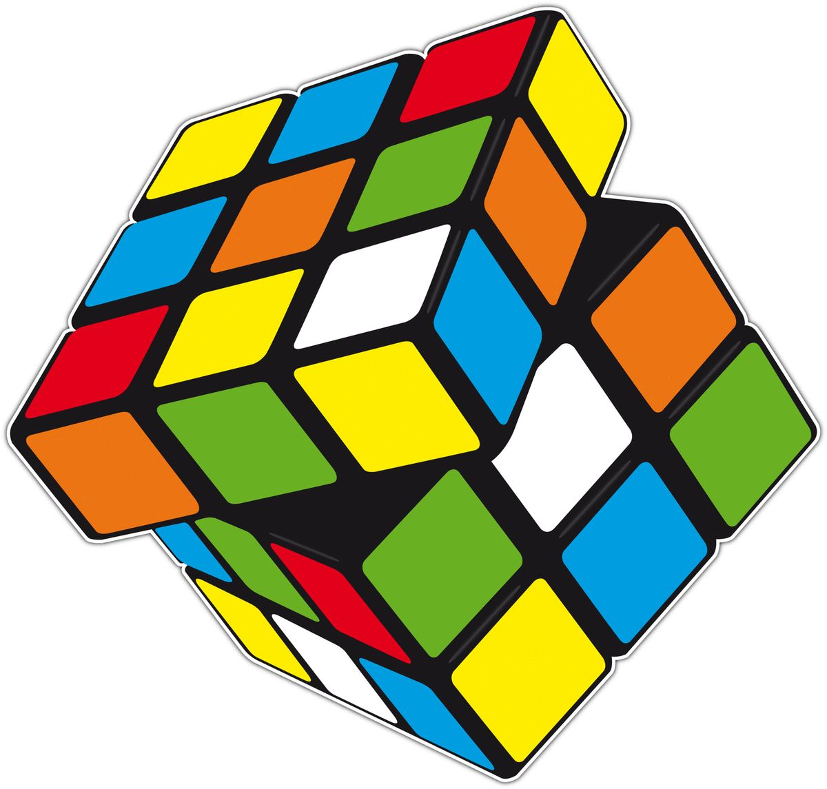 Rubiks Cube Is A 3 D Mechanical Puzzle Car Bumper Window Sticker