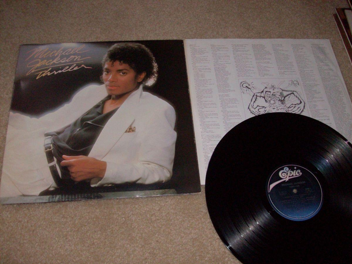Michael Jackson Thriller Vinyl Record Album