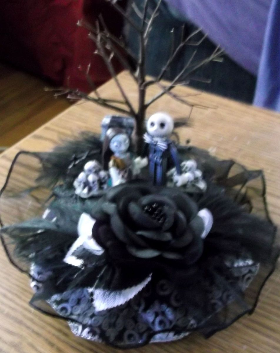 Nightmare Before Christmas Wedding Cake Topper Jack Sally Rare Fig