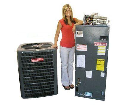 Goodman 3 ton 13 seer heat pump 410A and air handler (cosmetic damage)
