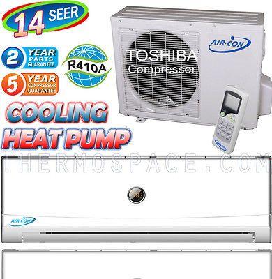 12000 BTU Ductless Air Conditioner, Heat Pump 1 TON Mini Split AC 14