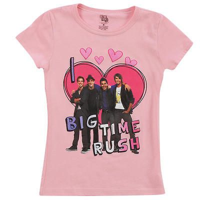 Love Big Time Rush Pink Short Sleeve T Shirt   Large #zCL