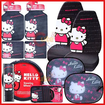 Hello kitty Car Seat Cover Set Auto Accessories with Shade CORE 10pc