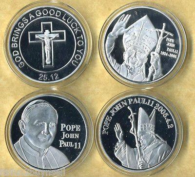 pope john paul ii coin set