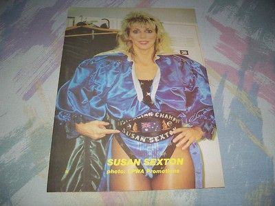 Susan Sexton,Wrestling Pin Up,LPWA,WOW,NWA,WCW,Vintage,Ladies Champion