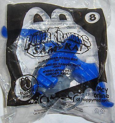 Mcdonalds Toy Sabans Power Rangers Samurai # 8 Blue Ranger Hydro Bow