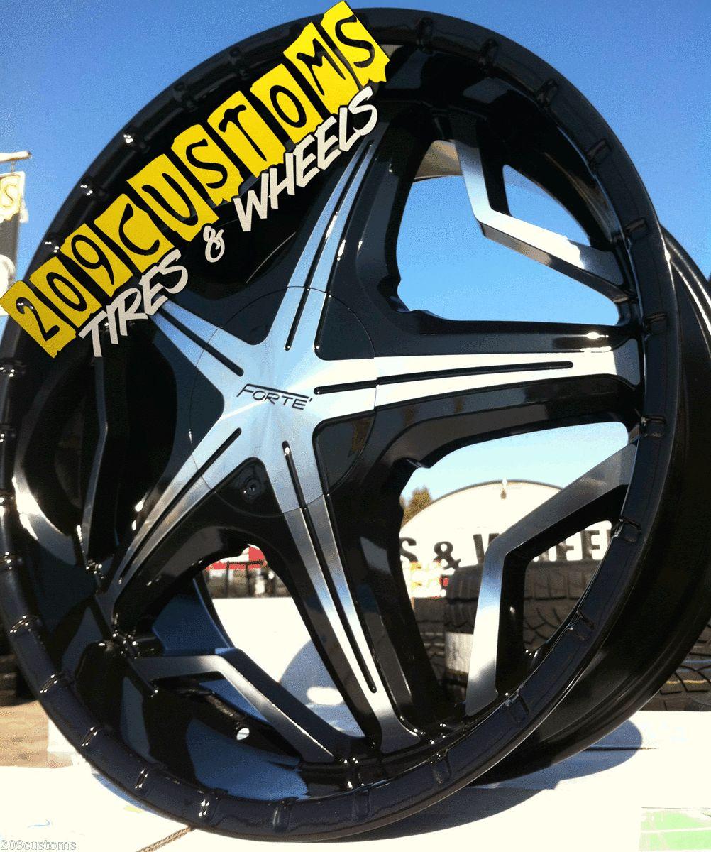 19 Black Wheels Rims Tires 5x108 22x8 5 New Ford Escape 2013