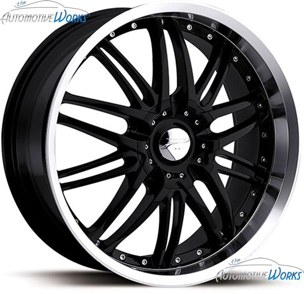 Platinum 200 Apex 5x100 5x115 40mm Black Machined Wheels Rims Inch 18