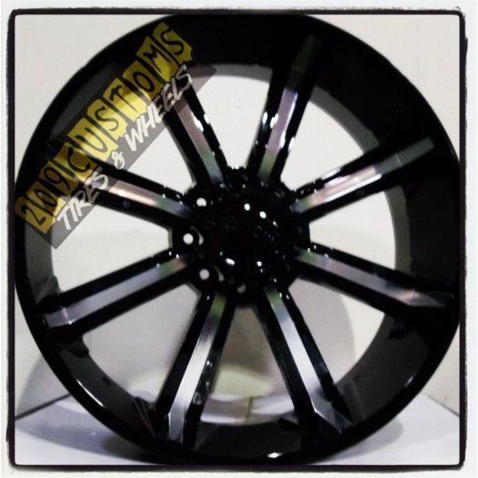 26 inch 26 Dcenti 903 Black Wheels Rims Tires 8x165 315 40 26 Hummer