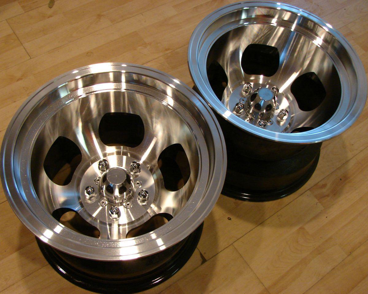 75 Fenton Racing Gyro Slot Drag Mags Rims Wheels 5 Lug GM Chevy