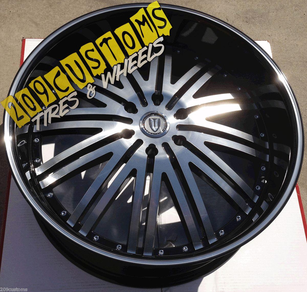 28 Versante 212 Black Wheels Rims Tires 6x139 7 Escalade 2000 2012