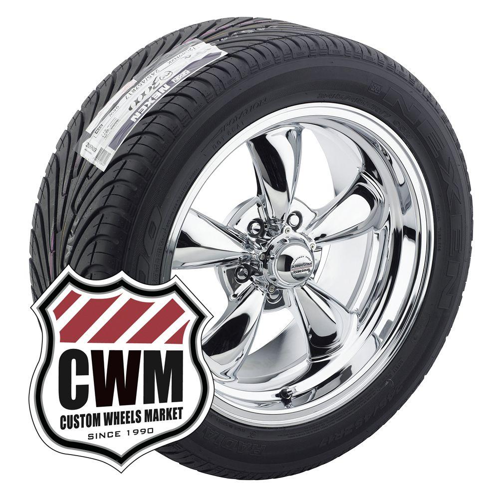 17x7 17x9 Chrome Wheels Rims Tires 215 50ZR17 275 40ZR17 for Chevy