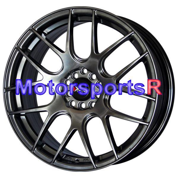 530 Chromium Black Concave Wheels Rims 5x100 5x4 5 5x114 3 ET 38 Honda