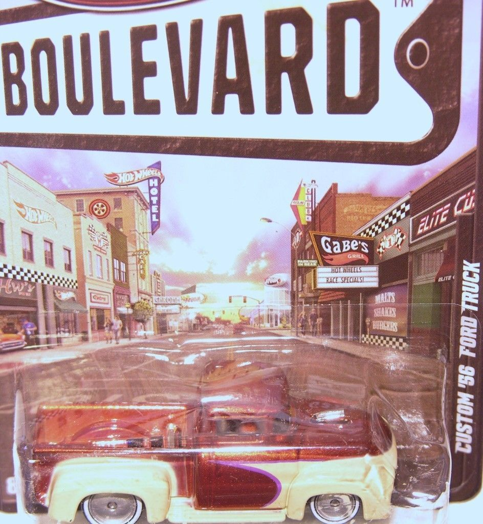 Hot Wheels 2012 Boulevard Series Custom 56 Ford Truck Brown from Case