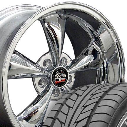 10 Chrome Bullitt Wheels Nitto Tires Bullet Rims Fit Mustang GT 05 Up