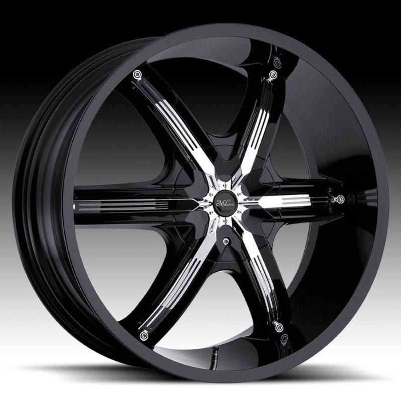 22Millani BELLAIR6 Black Wheels Chevy Trailblazer GMC