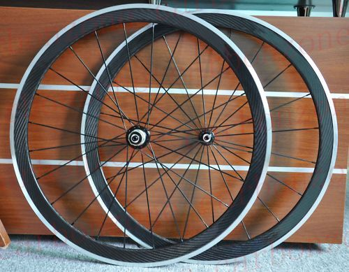 42mm Carbon Alloy Road Bike Clincher Wheels Wheelsets