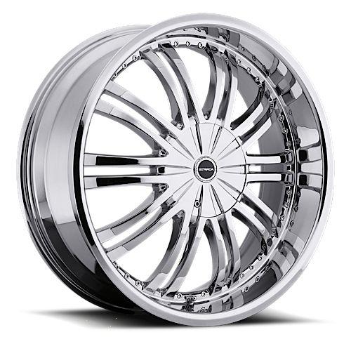 18 inch 5x108 5x4 5 Chrome Wheels Rims 5 Lug Ford Acura Nissan Toyota