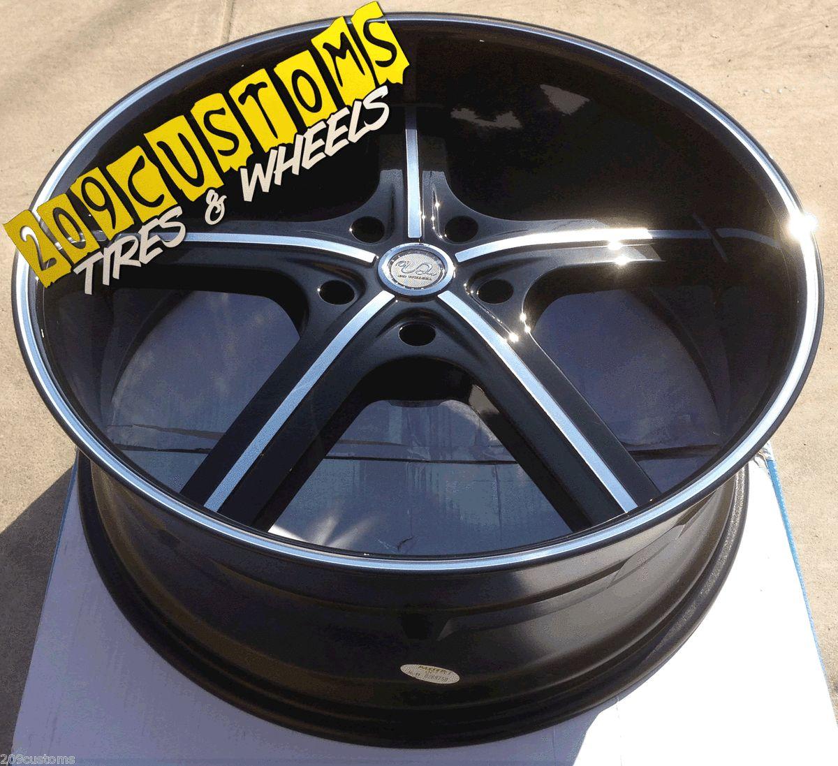 22 U2W55 Black Wheels Tires Rims 5x115 Charger Magnum Nitro