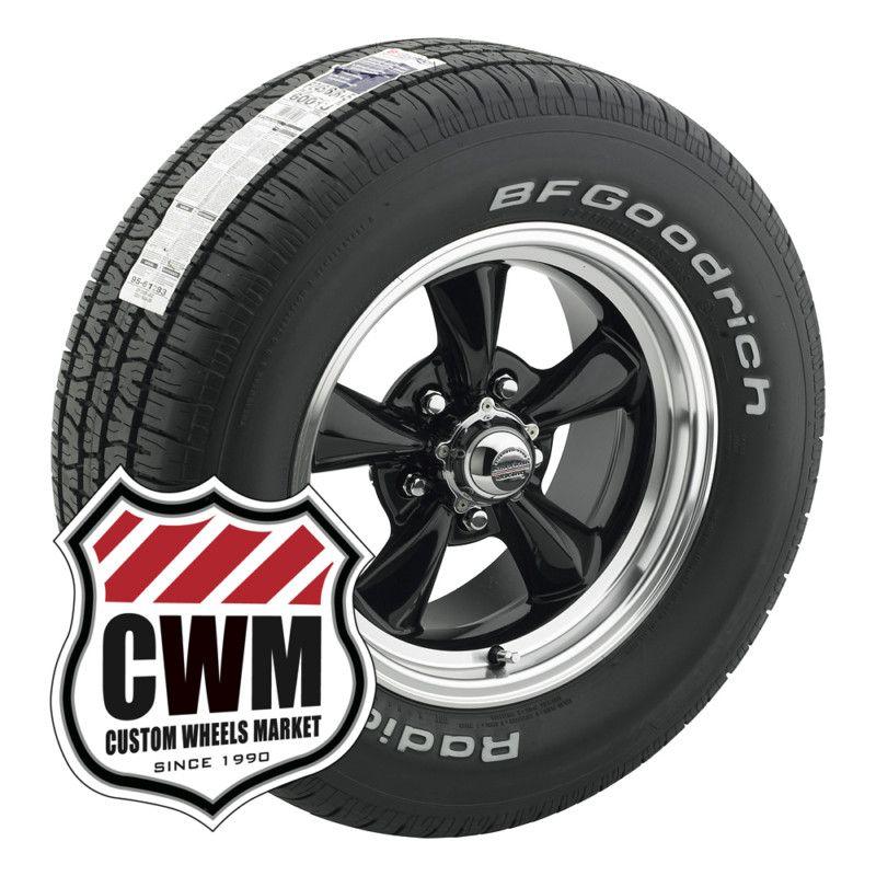 Black Wheels Rims Tires 225/60R15 245/60R15 for Chevy Impala 58 70