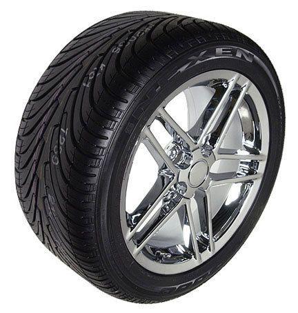17x9 5 C6 Z06 Chrome Wheels Rims Tires Fits Camaro